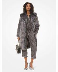 Michael Kors Faux Fur Coat - Black