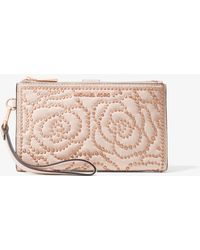 e76a11c1b422 Lyst - Michael Kors Juliana Large 3-in-1 Saffiano Leather Wallet in ...