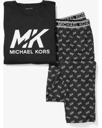 Michael Kors Pijama de algodón con logotipo - Negro