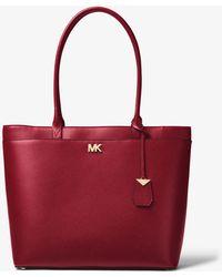 Michael Kors - Maddie Large Crossgrain Leather Tote - Lyst
