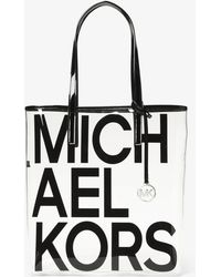 Michael Kors - The Michael Large Graphic Logo Print Clear Tote - Lyst
