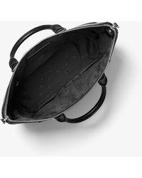 Michael Kors Greyson Logo Leather Tote Bag - Black