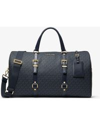 Michael Kors Logo Suitcase - Blue