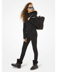 Michael Kors Faux Fur-trim Ski Suit - Black