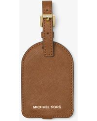 Michael Kors Jet Set Travel Saffiano Leather Luggage Tag - Brown