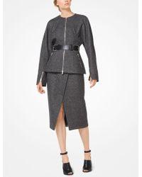 Michael Kors - Herringbone Wool Zip Jacket - Lyst