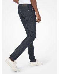 Michael Kors Parker Slim Fit Jeans In Rinse - Blue