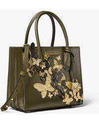 facd46cda3077 Reduziert Michael Kors - Umhängetasche Mercer Medium aus Leder mit  Schmetterlingsverzierungen und Akkordeon-Design - Lyst
