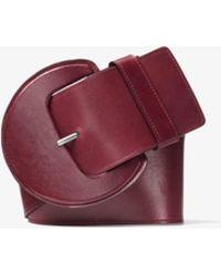 Michael Kors - Oversized Calf Leather Belt - Lyst
