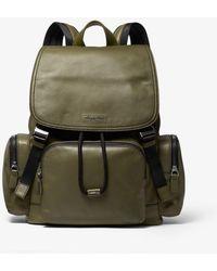 b55062d05d68 Michael Kors Henry Leather Backpack in Blue for Men - Lyst