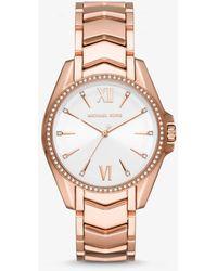 Michael Kors Reloj Whitney en tono dorado rosa - Metálico
