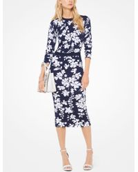 Michael Kors - Floral Stretch-viscose Pullover - Lyst