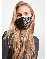 Michael Kors Leopard Stretch Cotton Unisex Face Mask - Multicolour