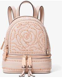 711289e38c09 Michael Kors - Michael Rhea Mini Zip Studded Convertible Backpack - Lyst