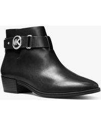 Michael Kors - Harland Leather Ankle Boot - Lyst