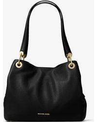 Michael Kors - Raven Large Leather Shoulder Bag - Lyst