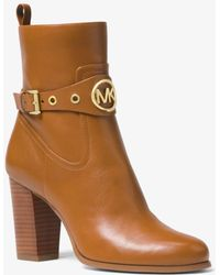 Michael Kors - Heather Leather Ankle Boot - Lyst