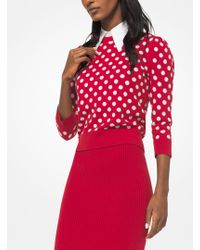 Michael Kors - Coin Dot Cashmere Intarsia Pullover - Lyst