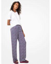 Michael Kors - Heart-print Silk-georgette Pajama Pants - Lyst