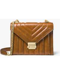 Michael Kors Whitney Large Quilted Leather Convertible Shoulder Bag - Brown