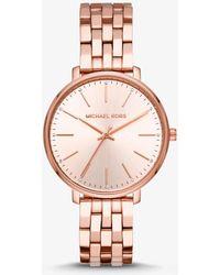 Michael Kors - Reloj Pyper en tono dorado rosa - Lyst