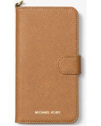 Michael Kors - Saffiano Leather Folio Phone Case For Iphone7/8 Plus - Lyst