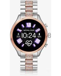 Michael Kors Smartwatch Gen 5 Lexington bicolore con pavé - Metallizzato