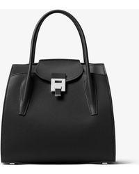 Michael Kors Bancroft Large Leather Tote - Black