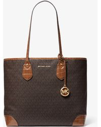 Michael Kors Eva Large Logo Tote Bag - Brown