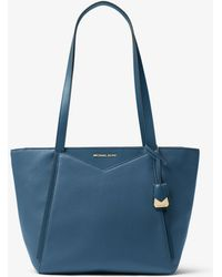 03147358de6b85 MICHAEL Michael Kors Maritime Medium Canvas Beach Tote Bag in Blue ...