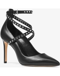 MICHAEL Michael Kors - Jeannie Studded Leather Pump - Lyst