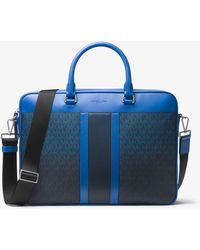 Michael Kors - Jet Set Large Logo Stripe Briefcase - Lyst