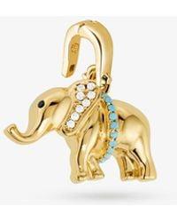 Michael Kors 14k Gold-plated Sterling Silver Pavé Elephant Charm - Metallic