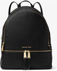 4fdf6c7409f5 MICHAEL Michael Kors - Rhea Large Leather Backpack - Lyst