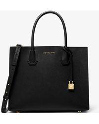Michael Kors Mercer Large Saffiano Leather Tote Bag - Black