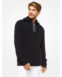 Michael Kors - Cotton Quarter-zip Sweater - Lyst