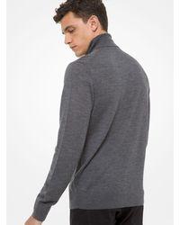 Michael Kors Merino Wool Turtleneck Jumper - Grey