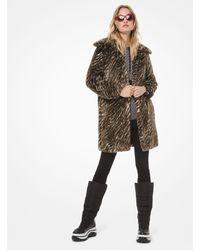 Michael Kors Safari Faux Fur Coat - Brown