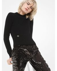 Michael Kors Monogram Cashmere Sweater - Black
