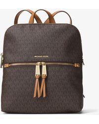 Michael Kors - Rhea Medium Slim Logo Backpack - Lyst