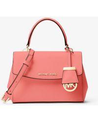 Michael Kors Ava Extra-Small Saffiano Leather Crossbody - Pink
