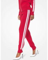 Michael Kors - Stretch-viscose Striped Joggers - Lyst