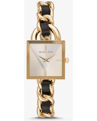Michael Kors Reloj Mk Dorado De Piel Con Cadena De Eslabones - Metálico