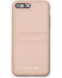Michael Kors Custodia In Pelle Saffiano Per Iphone 7/8 Plus - Rosa