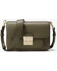 Lyst - Michael Kors Sloan Large Quilted-Leather Shoulder Bag in Natural 9024dd48a5ebb