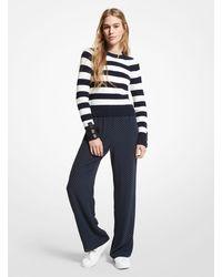 Michael Kors Polka Dot Georgette Pajama Pants - Blue