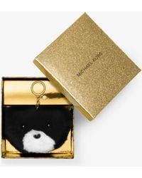 Michael Kors Teddy Bear Fur Key Chain - Black