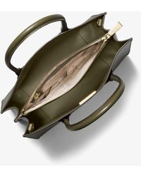 Michael Kors Mercer Large Saffiano Leather Tote Bag - Green