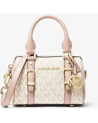 Michael Kors Bedford Legacy Extra-small Logo Duffle Crossbody Bag - Pink