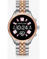 Michael Kors Reloj Inteligente Access Mkgo Gen 4 En Tono Rosa De Silicona - Metálico